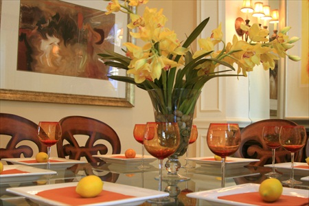 formal dining room setting