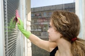washing blinds