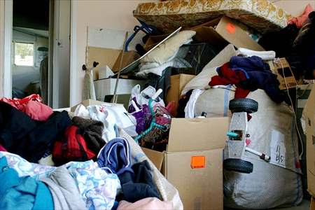 photo of hoarder home