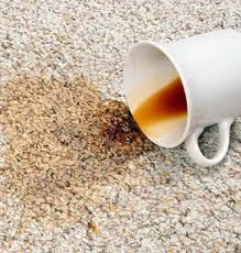 coffee stain on carpeting